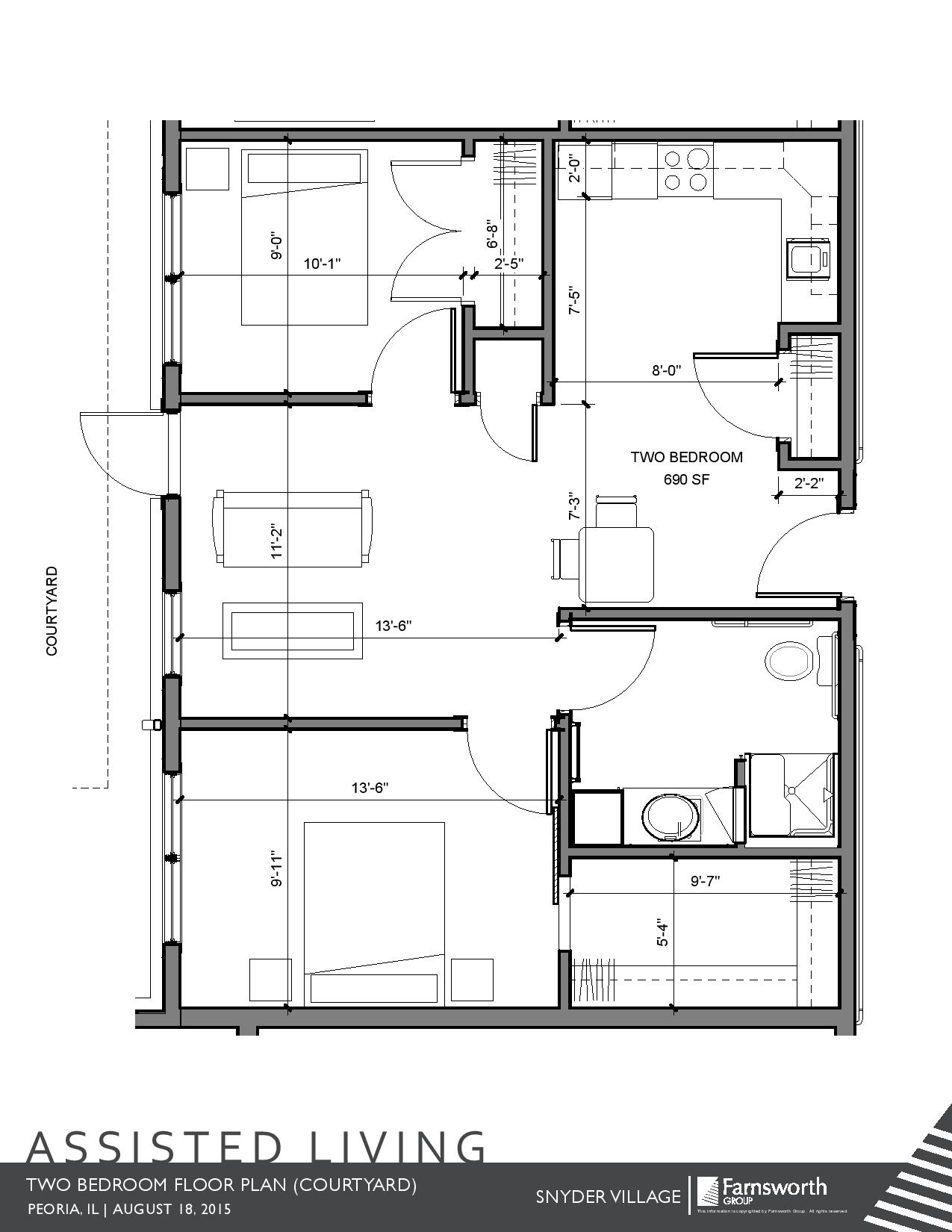 Two Bedroom With Courtyard Access